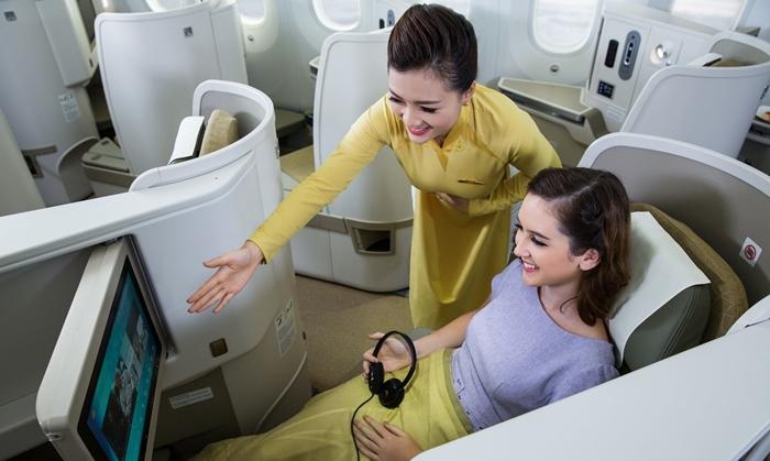 Vietnam Airlines cung cấp các dịch vụ tiện ích tốt nhất trên chuyến bay