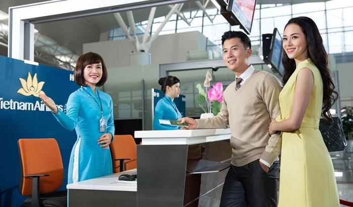 Quầy làm thủ tục trực tuyến của Vietnam Airlines