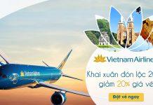 Vietnam Airlines khai xuân giảm giá 20% vé máy bay
